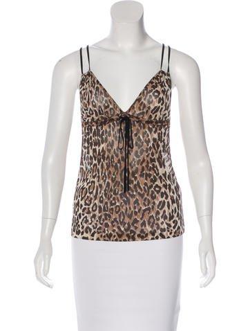 Dolce & Gabbana Sleeveless Leopard Print Top None