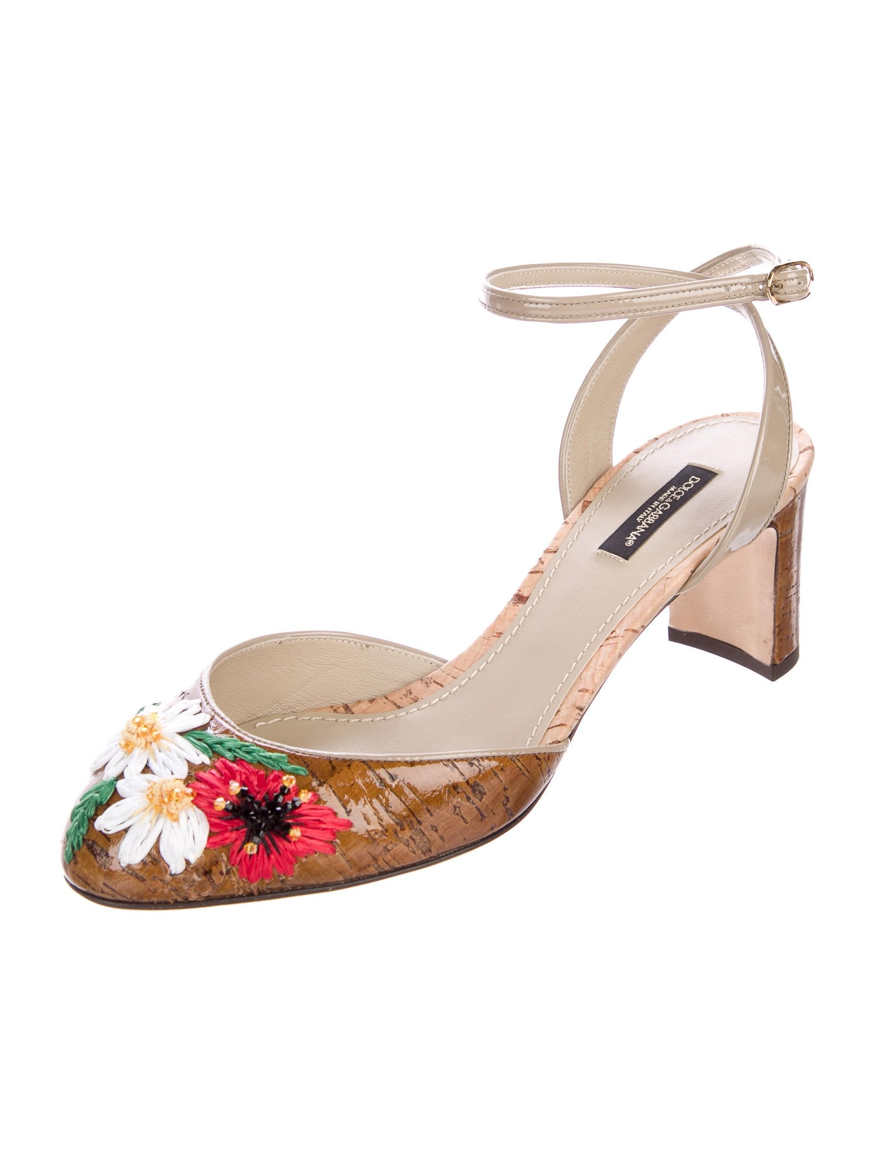 Dolce & Gabbana Floral Cork Pumps w/ Tags choice online Lqx5vo6iP