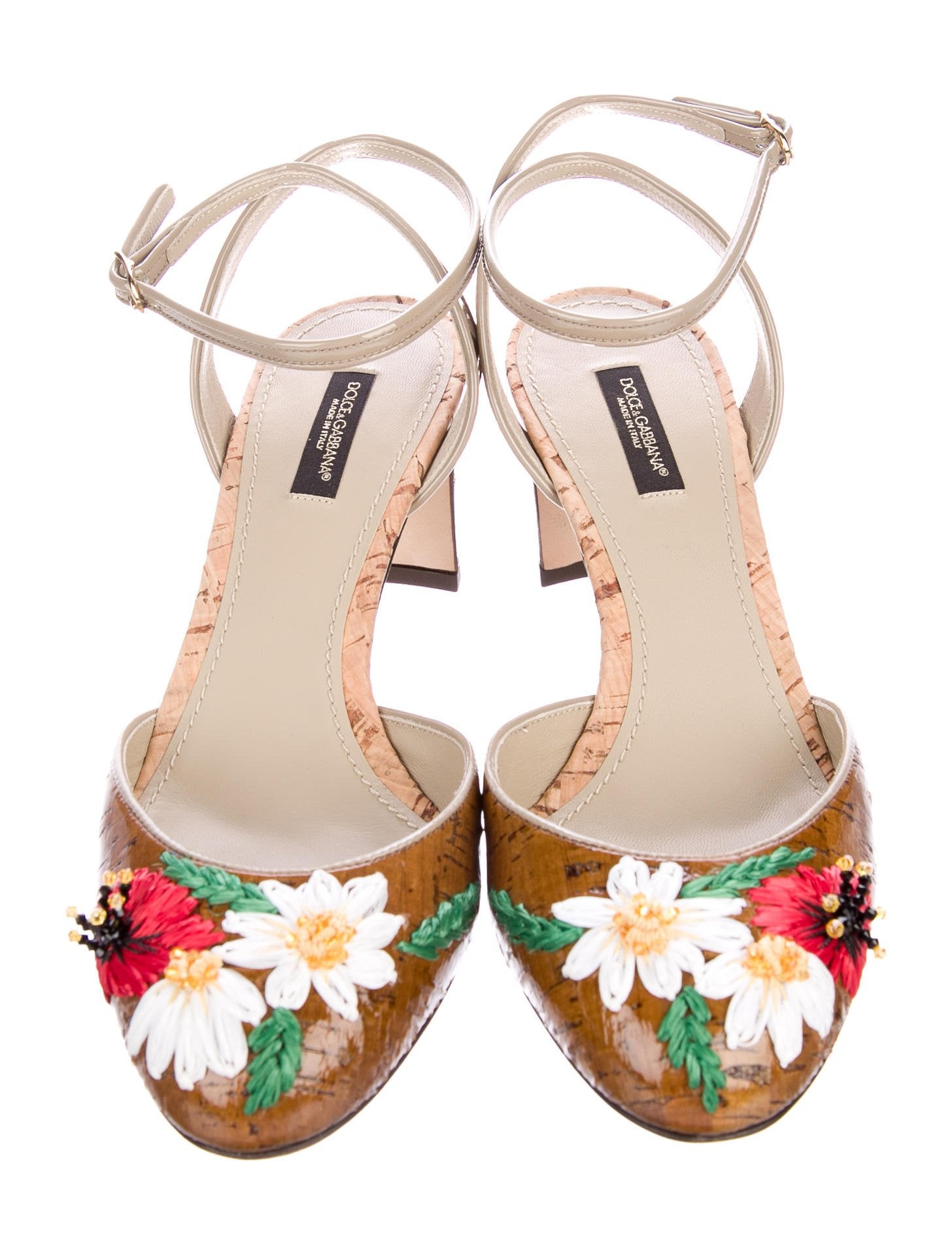Dolce & Gabbana Floral Cork Pumps w/ Tags buy cheap find great 1FABFEyUxA