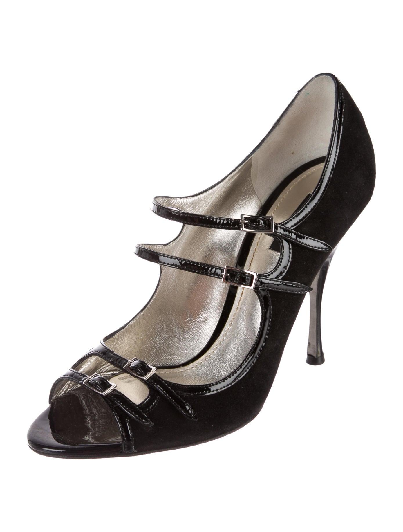 enjoy cheap price Dolce & Gabbana Multistrap Peep-Toe Pumps clearance get authentic cheap sale tumblr jQGAKP113I