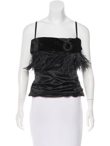 Dolce & Gabbana Embellished Bustier Top None
