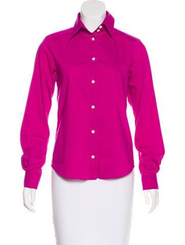 Dolce & Gabbana Long Sleeve Button-Up Top None