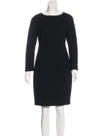 Dolce & Gabbana Wool Long Sleeve Dress None