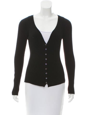 Dolce & Gabbana Virgin Wool Rib Knit Cardigan None