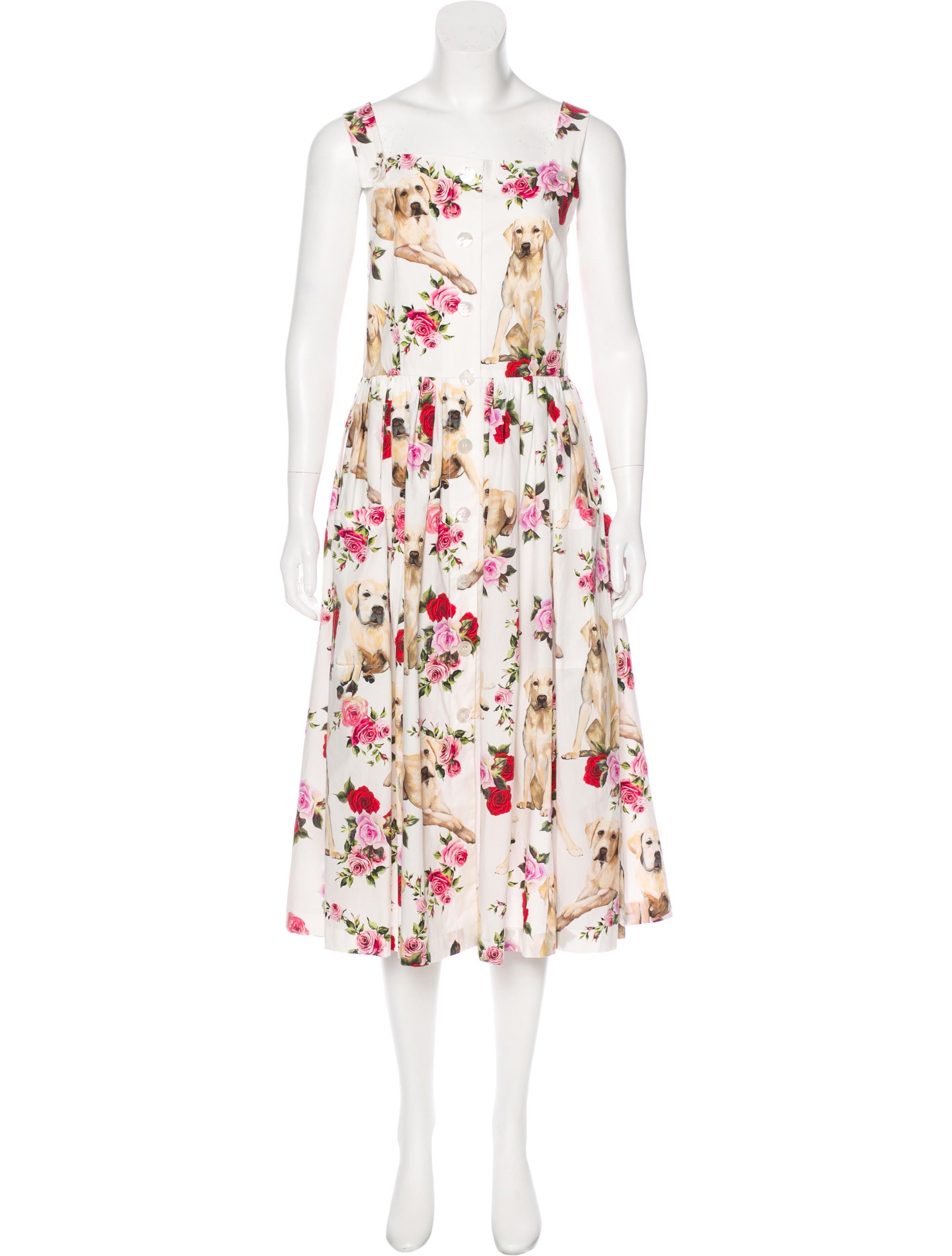 d91643ed Dolce & Gabbana 2017 Labrador Print Dress - Clothing - DAG103018 ...
