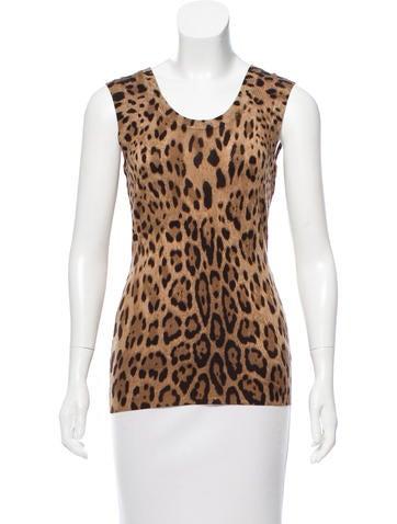 Dolce & Gabbana Leopard Wool Top None