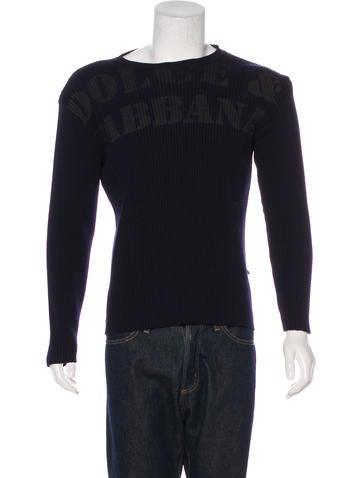 Dolce & Gabbana Rib Knit Logo Sweater None