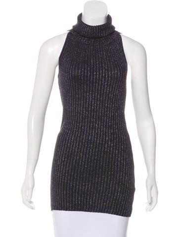Dolce & Gabbana Metallic Virgin Wool Top None