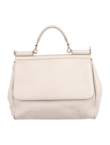 Women · Handbags  Dolce   Gabbana Miss Sicily Leather Satchel. Miss Sicily  Leather Satchel d428d0a889