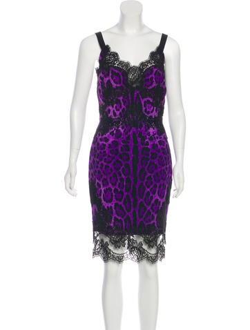 Dolce & Gabbana Leopard Print Knee-Length Dress None