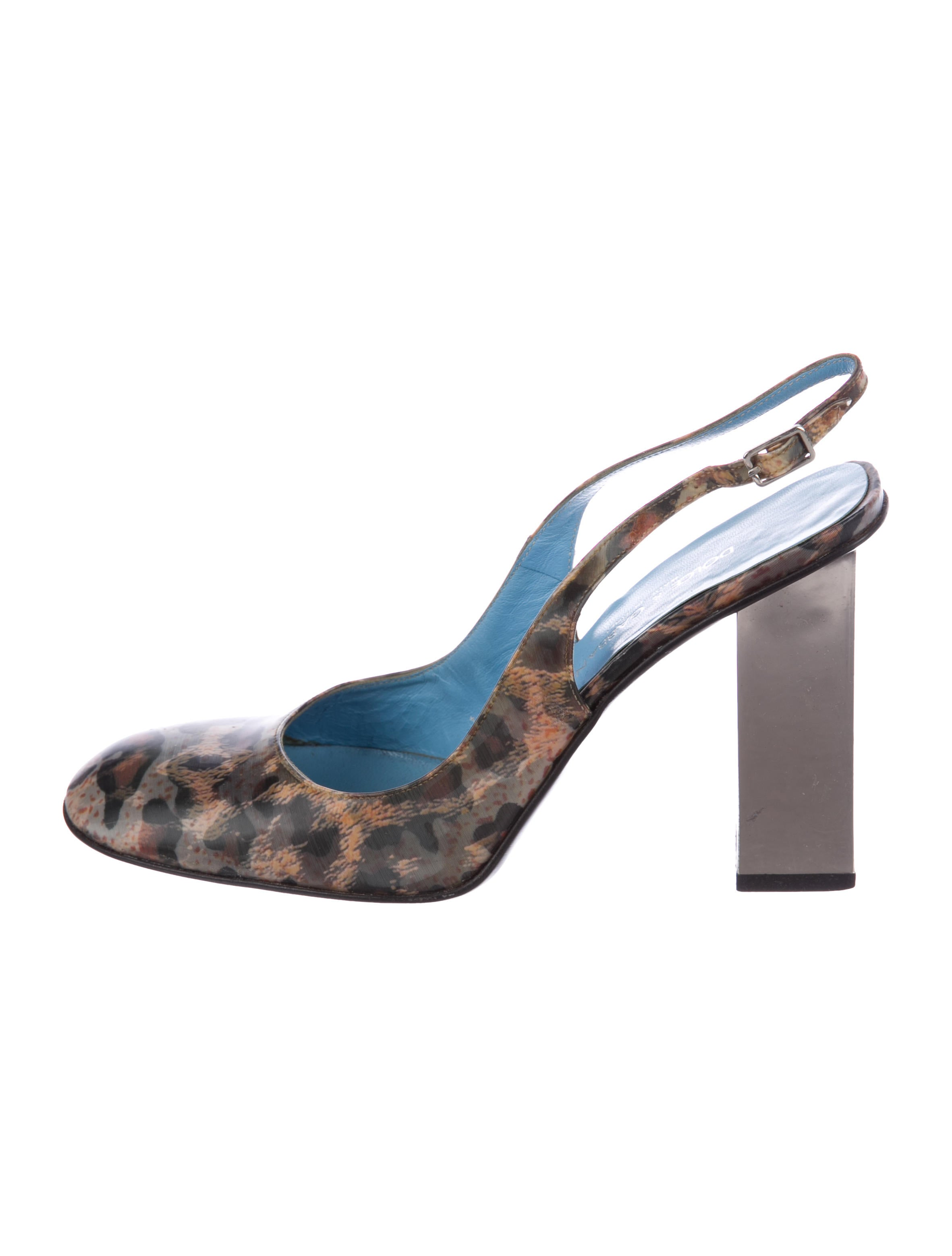 outlet view Dolce & Gabbana Holographic Slingback Pumps cheap sale discounts good selling for sale 0RHfrxtsL