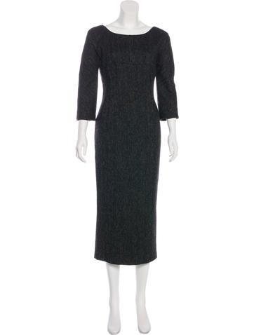Dolce & Gabbana Wool Herringbone Dress None