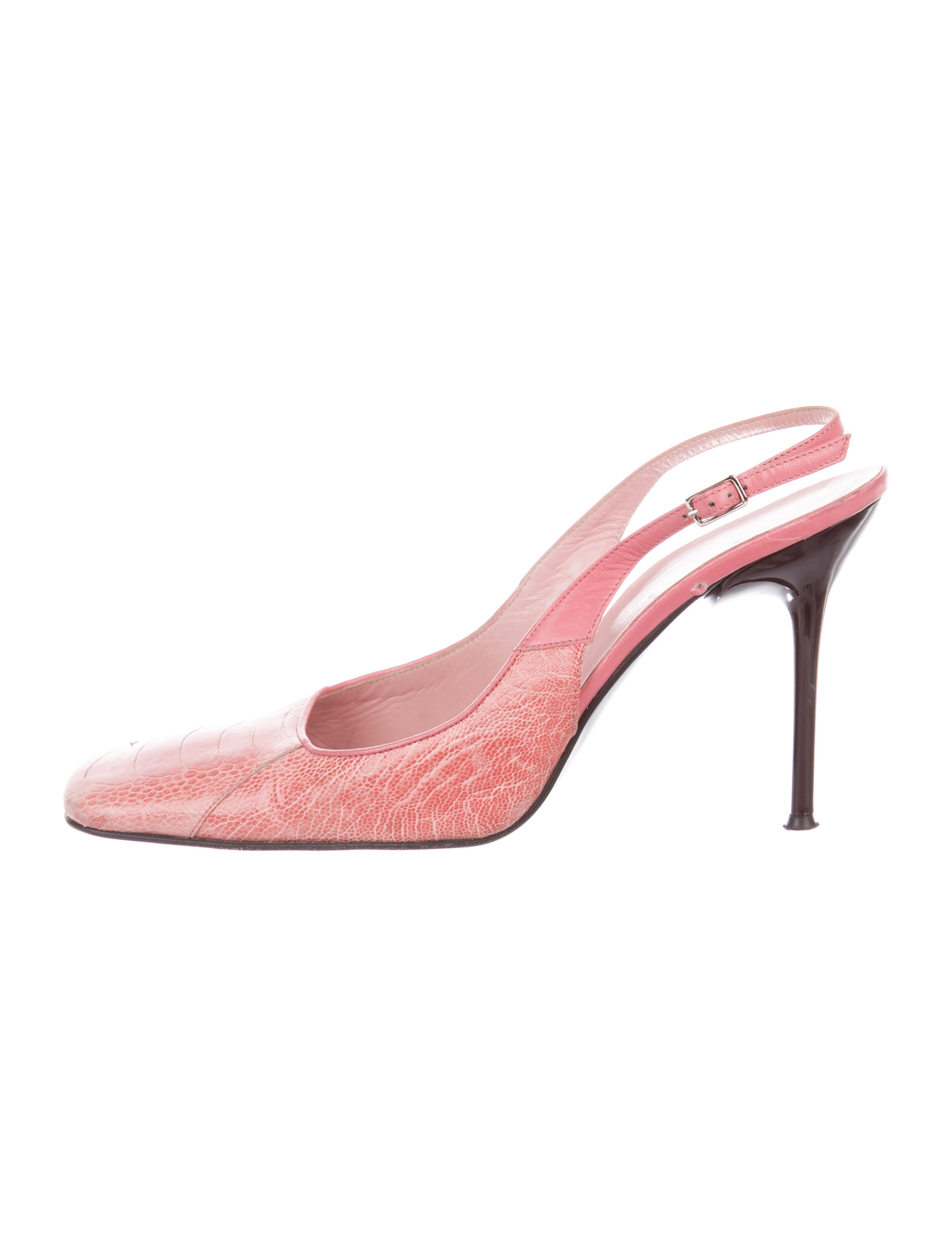 Dolce & Gabbana Ostrich Leg Slingback Pumps cheap fast delivery cheap get authentic Su7ebuM