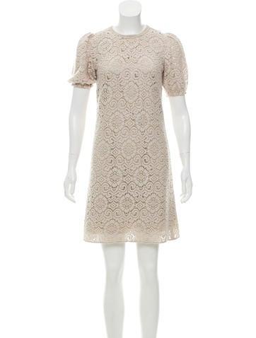 Dolce & Gabbana Wool Crochet Dress None