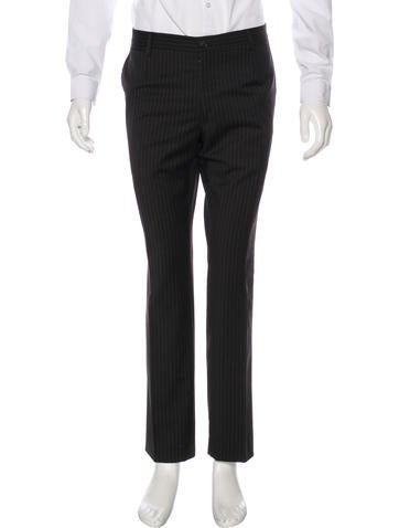 Dolce & Gabbana Striped Wool Dress Pants None
