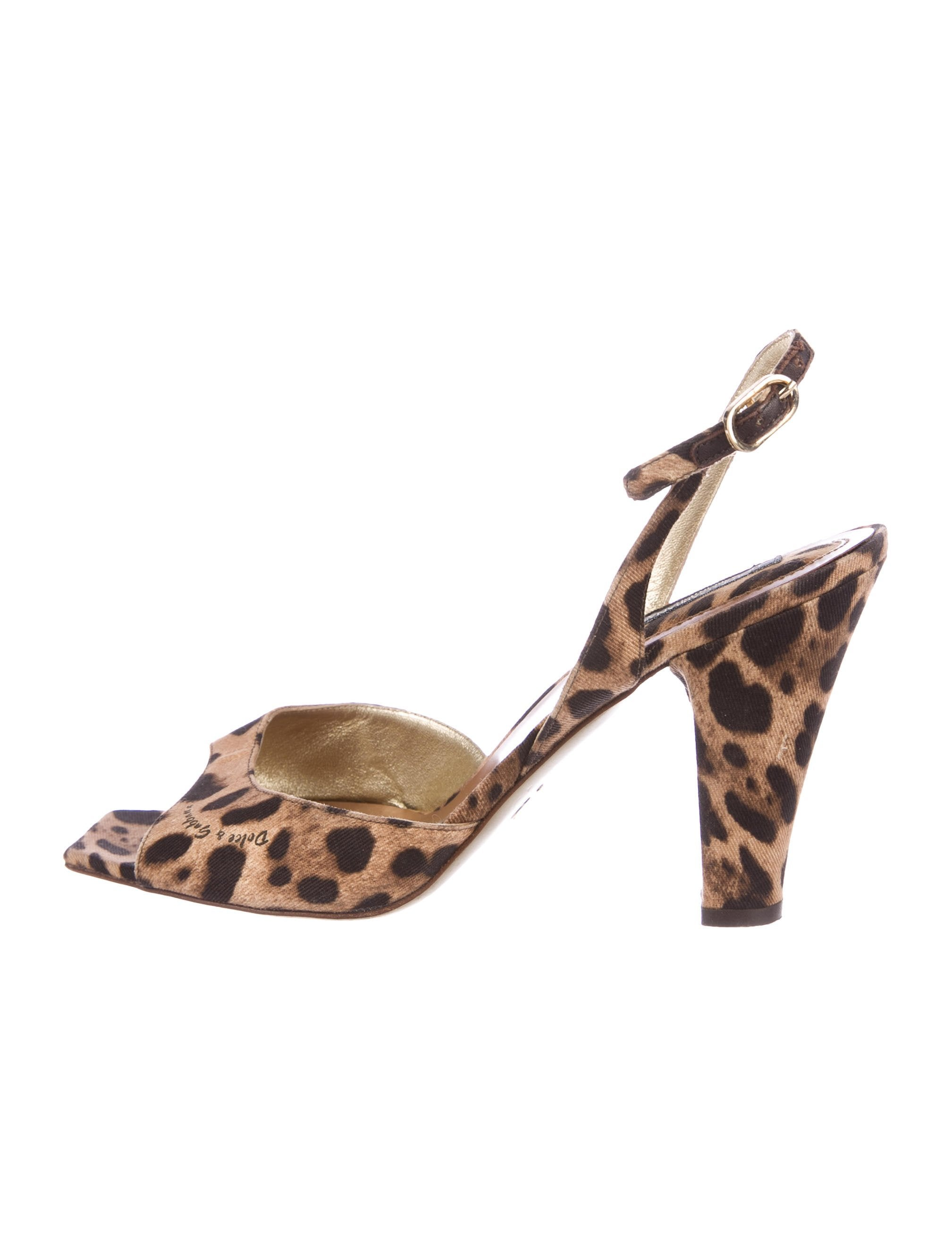 Dolce & Gabbana Canvas Slingback Sandals free shipping 100% original discount sast discount finishline sale best prices ibQbJ