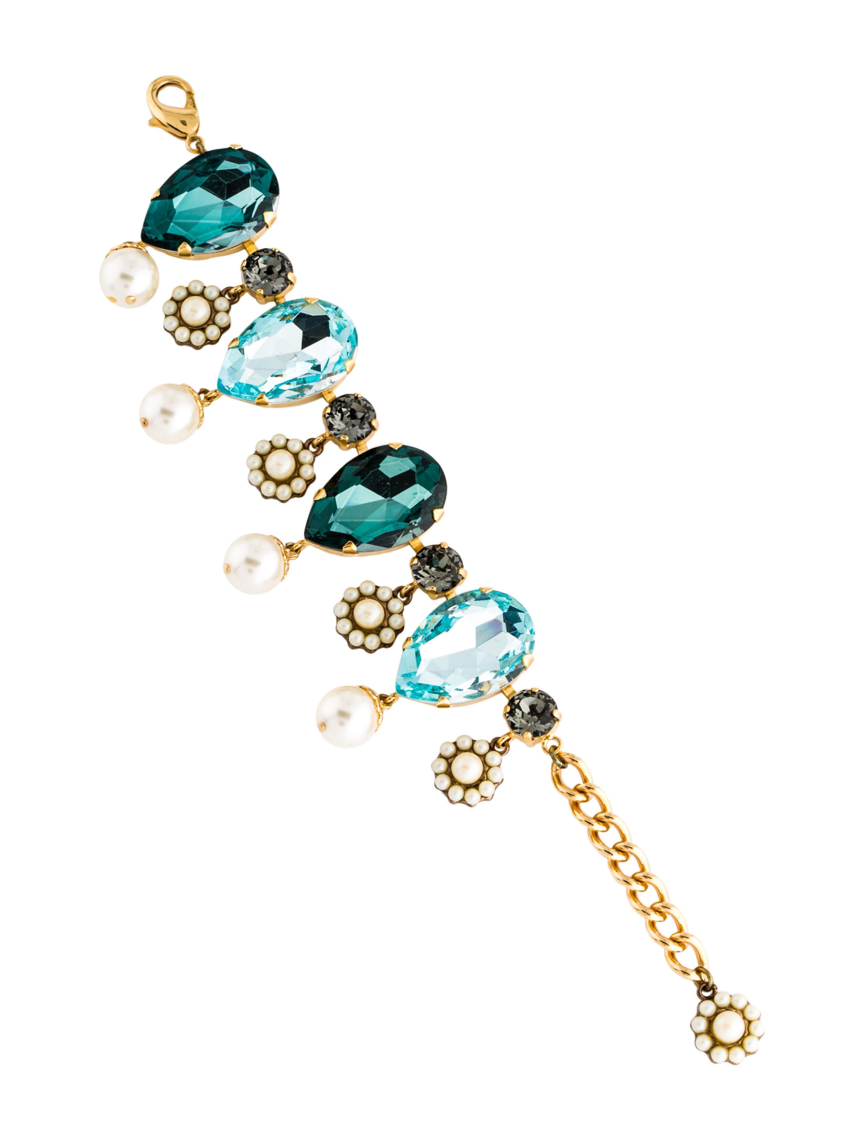 Crystal Faux Pearl Bracelet