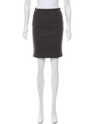 Dolce & Gabbana Wool Mini Skirt None