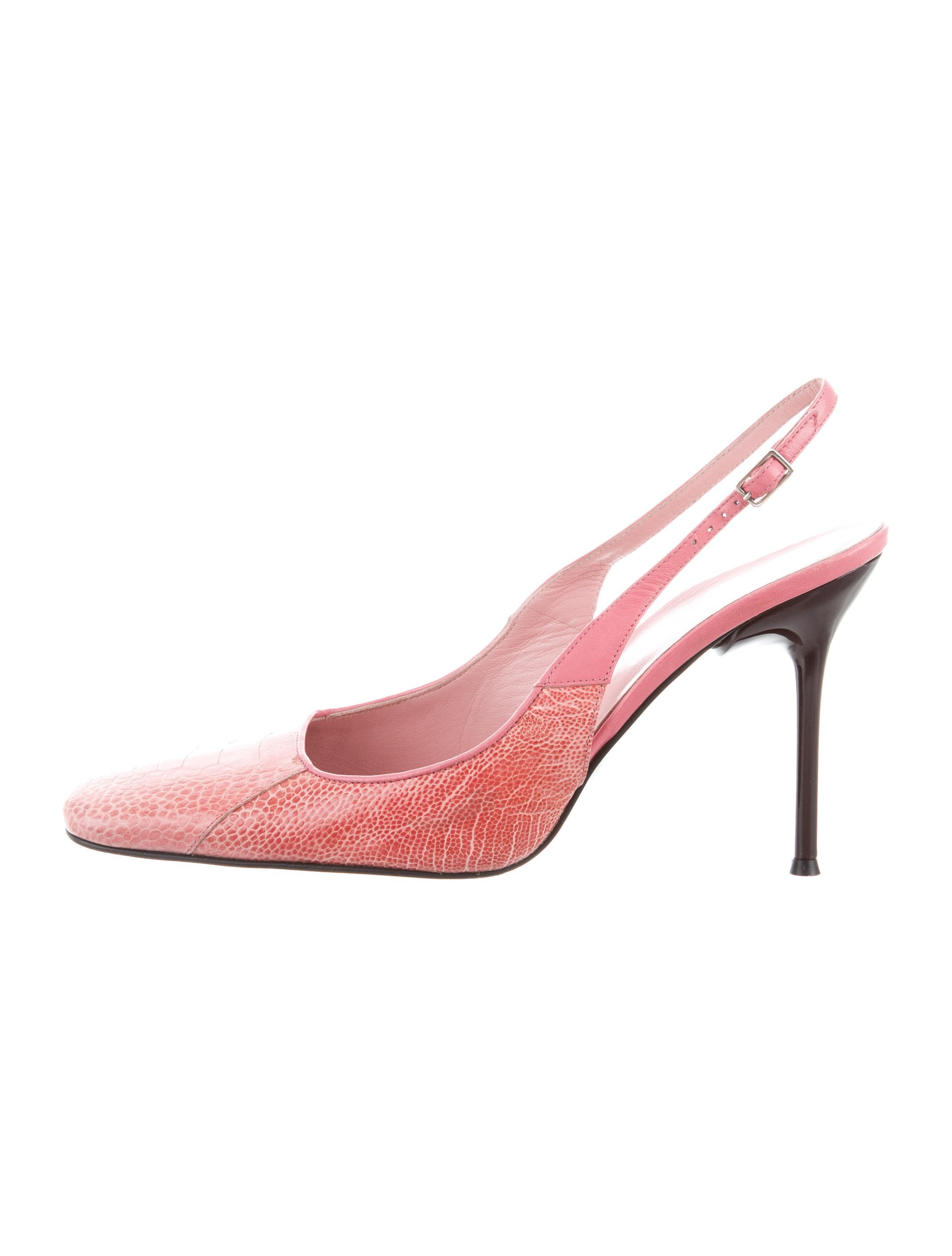 clearance shop for discount ebay Dolce & Gabbana Ostrich Square-Toe Pumps discount pay with visa limited edition cheap price b5vLu42Eq1