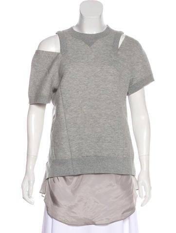 Dolce & Gabbana Wool Lace-Accented Sweatshirt None