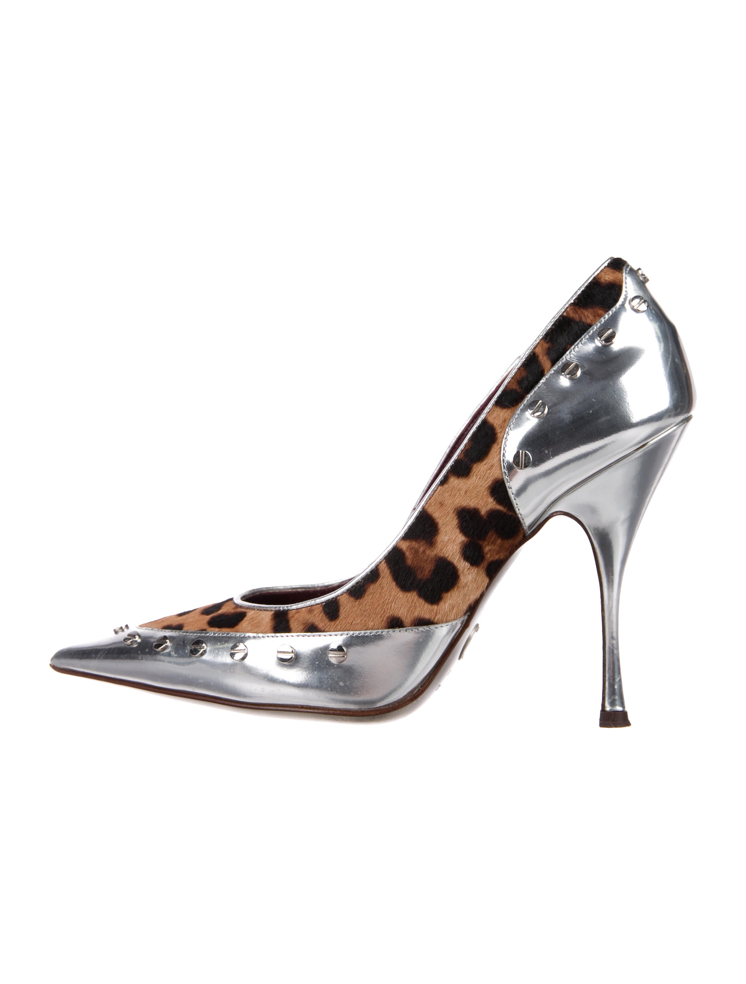 Dolce & Gabbana Leather Ponyhair-Accented Pumps outlet real the cheapest cheap online outlet many kinds of discount real iczNGAw