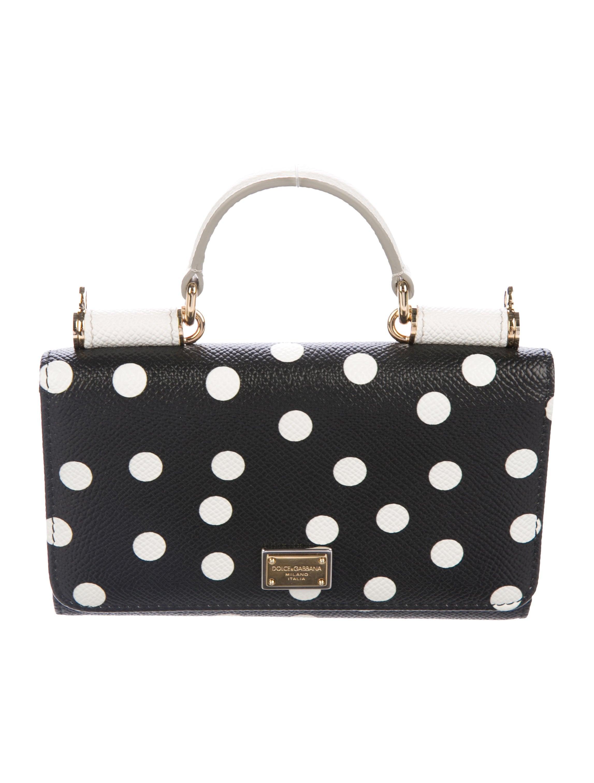 2808e074de Dolce   Gabbana Miss Sicily Mini Polka Dot Wallet On Chain ...