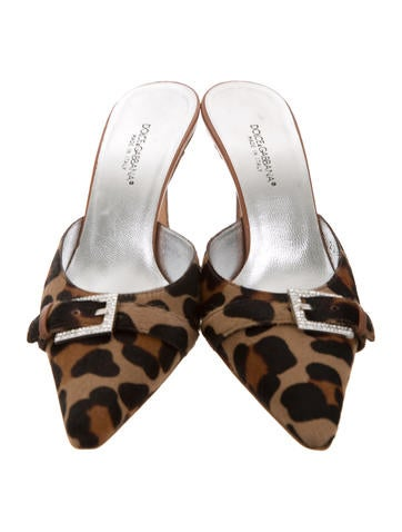 Dolce & Gabbana Animal Print Buckle-Accented Mules cheap sale top quality sale cheap online eastbay discount with mastercard websites sale online d8FxZqSVu