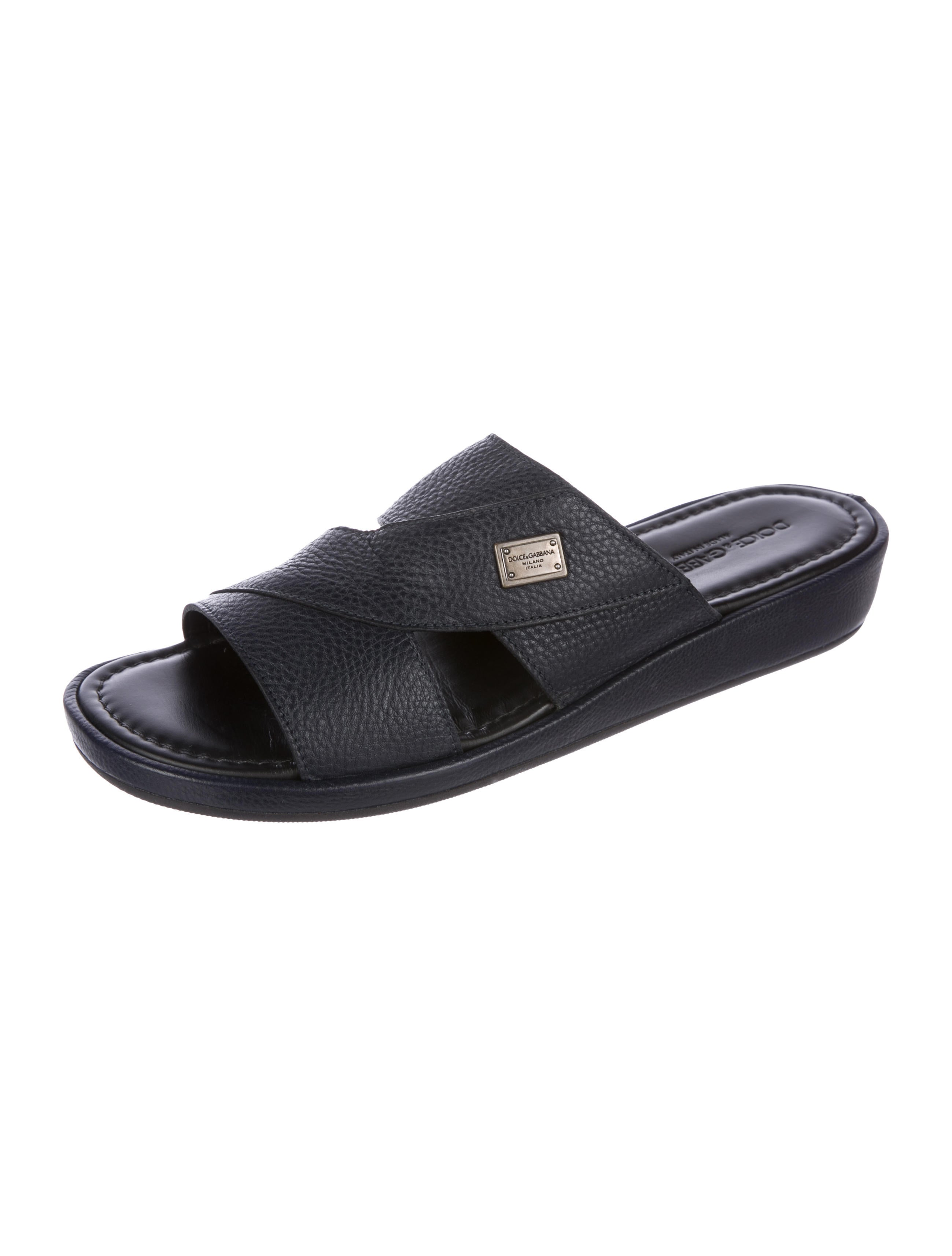 clearance eastbay Dolce & Gabbana Leather Slide Sandals w/ Tags high quality cheap price buy cheap comfortable cheap cost mRIACM
