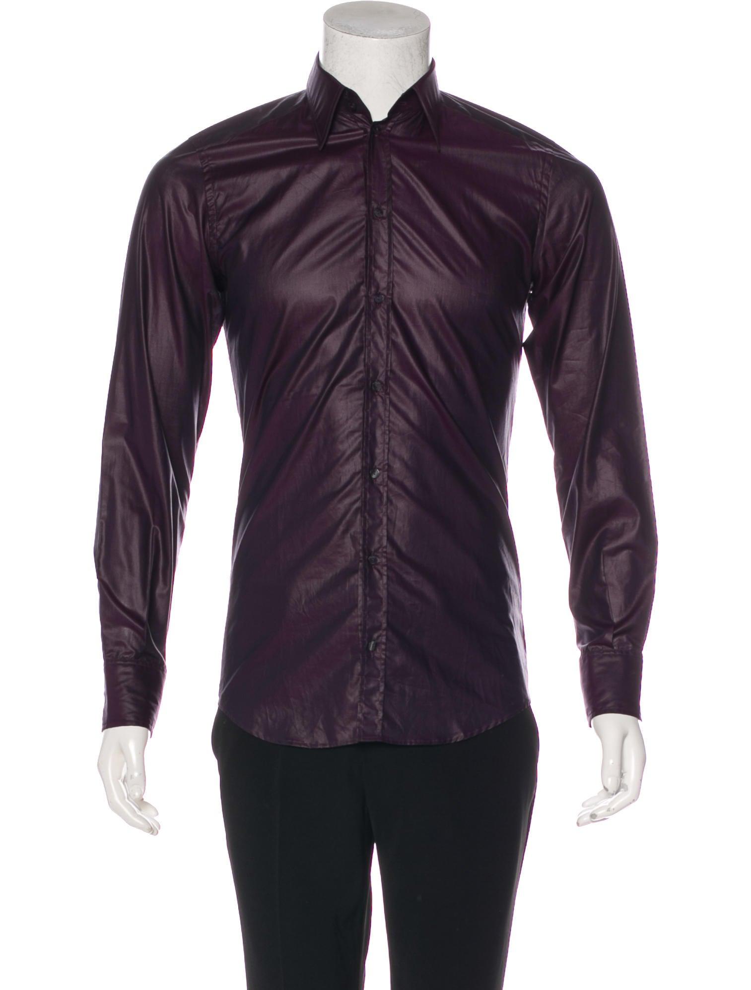 Dolce Gabbana Metallic Dress Shirt Clothing Dag111186 The