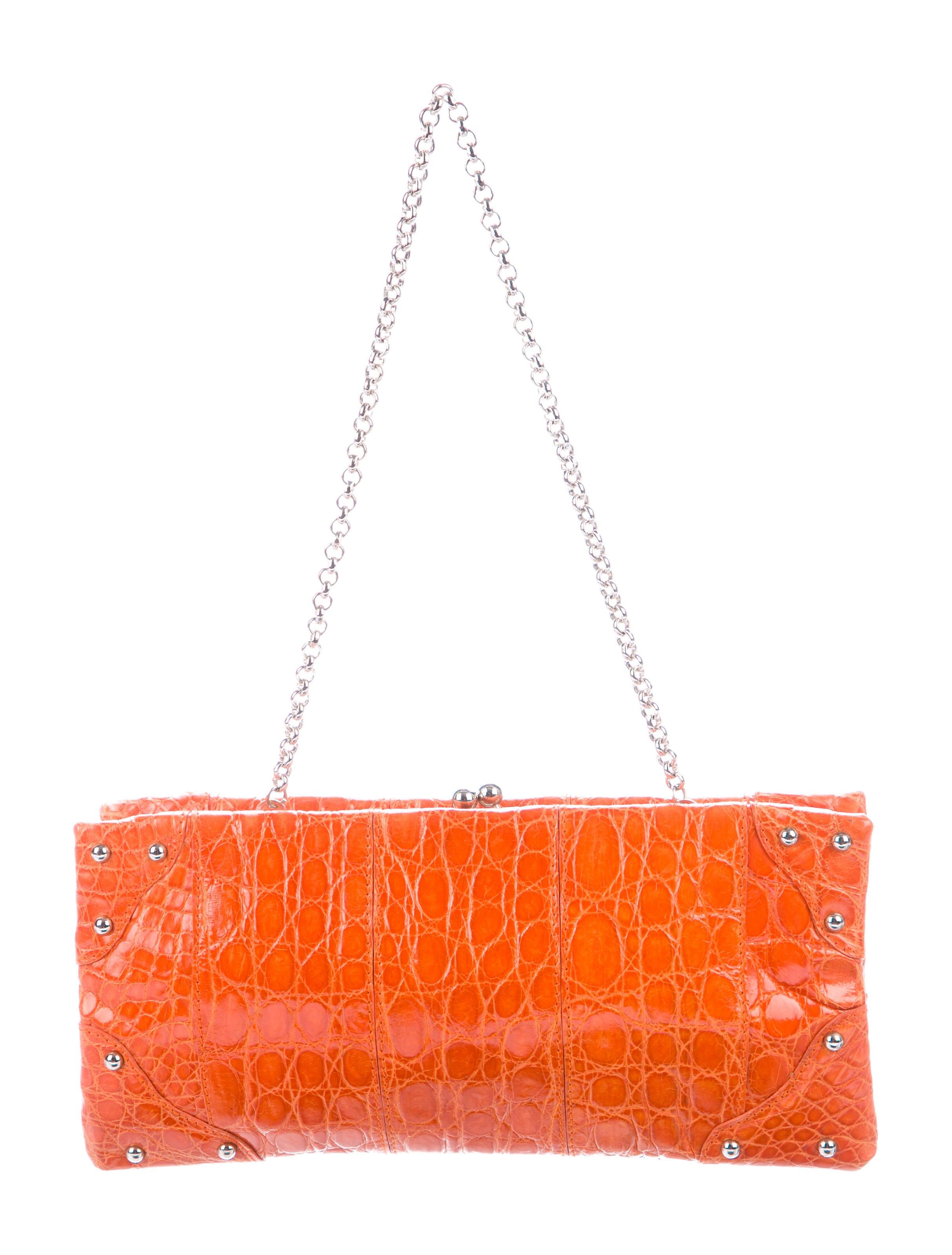 c4a0d31fe2 Dolce   Gabbana Crocodile Frame Clutch - Handbags - DAG111236