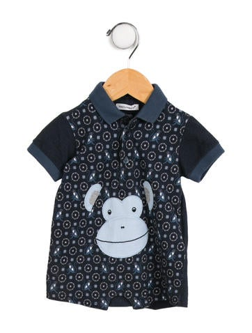 Boys' Printed Collared All-In-One