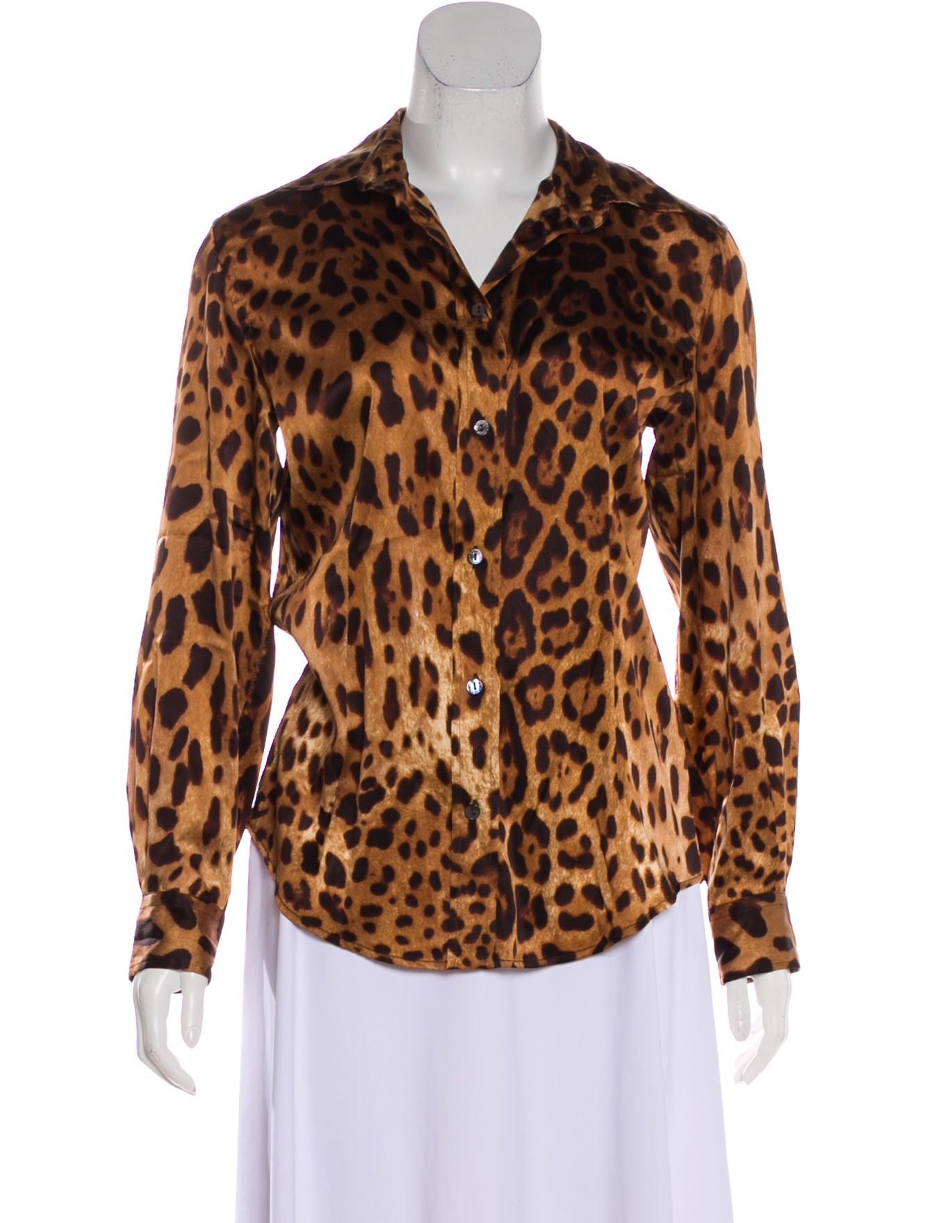 3e0975a110565d Dolce   Gabbana Silk Animal Print Top - Clothing - DAG120158