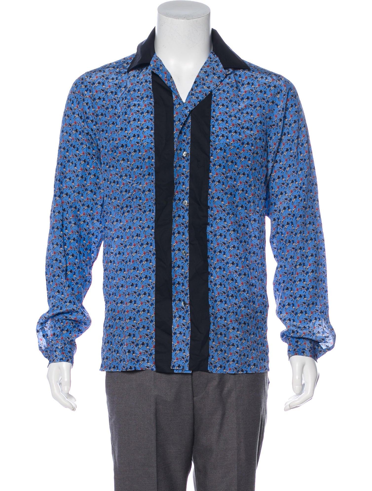 624bb7b3a1ec6a Dolce   Gabbana Silk-Blend Soccer Print Shirt w  Tags - Clothing ...