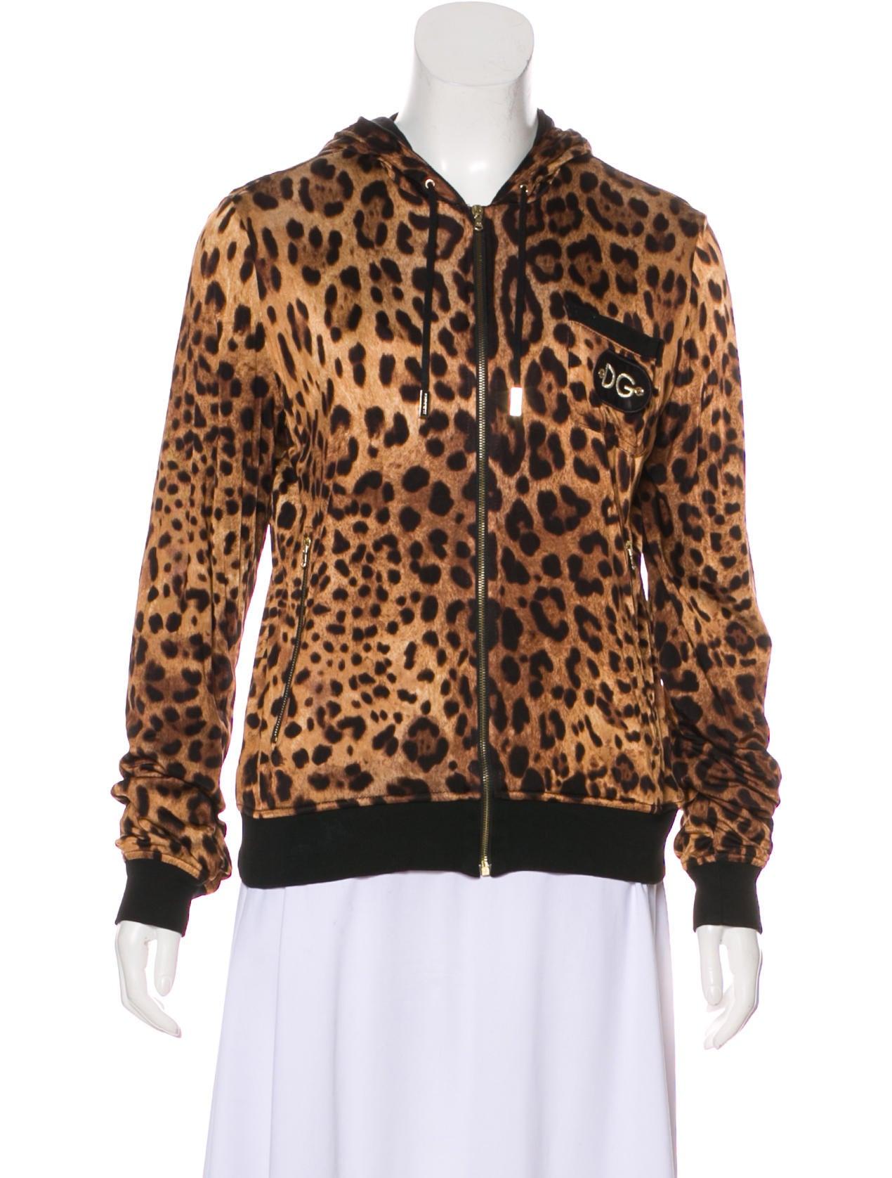 bcaf1f0509a4 Dolce & Gabbana Leopard Print Hooded Jacket - Clothing - DAG128329 ...