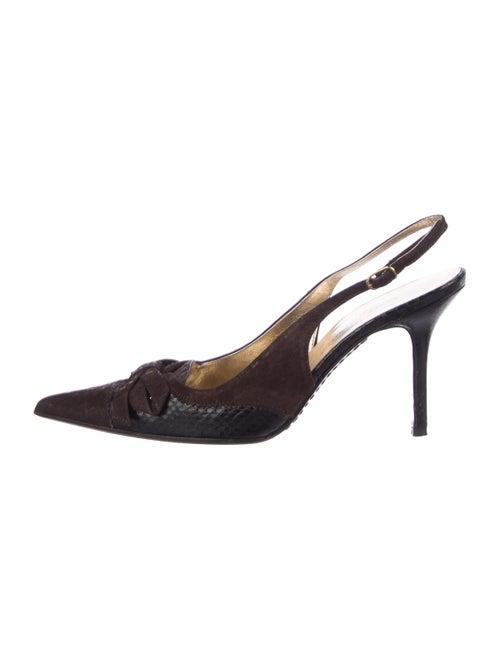 38e7e625bc6 Dolce   Gabbana Suede Pointed-Toe Slingback Pumps - Shoes ...
