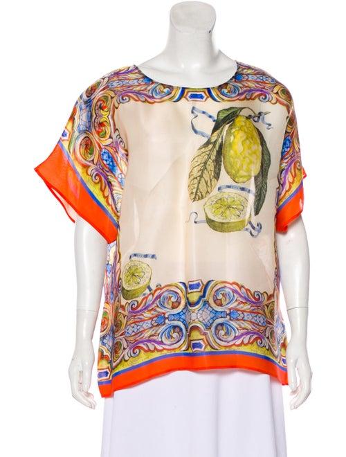 13a66eec Dolce & Gabbana Silk Printed Top - Clothing - DAG131457   The RealReal