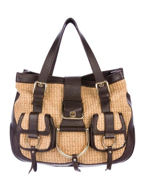 Dolce   Gabbana Leather-Trimmed Raffia Tote - Handbags - DAG132663 ... c37698c754dc2