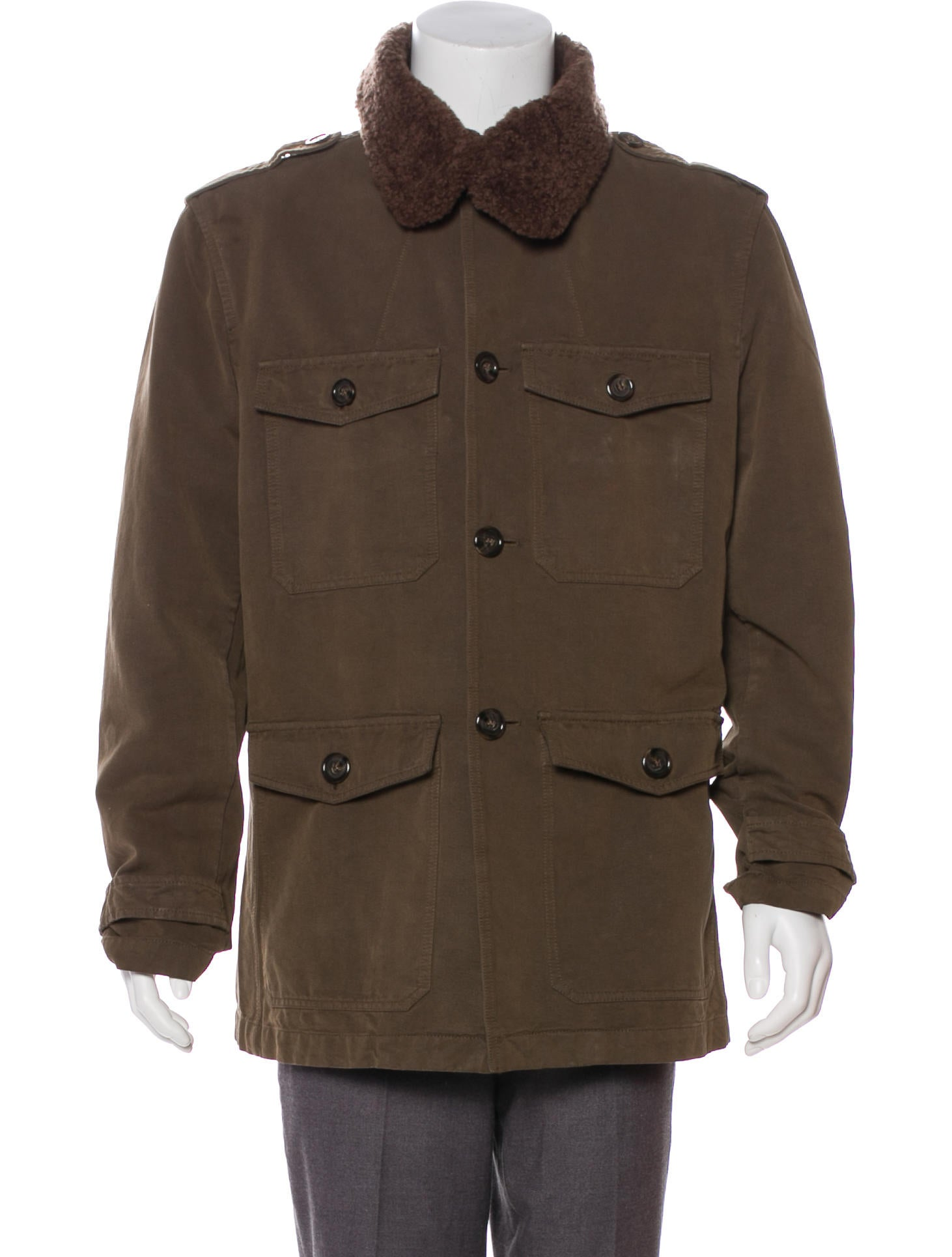 Dolce Gabbana Sherpa Trimmed Field Jacket Clothing Dag135177