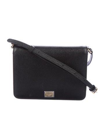 Dolce   Gabbana. Saffiano Leather Crossbody Bag aa9a322093