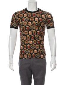 d3ff7e20cc85 Dolce   Gabbana. Crest Print T-Shirt