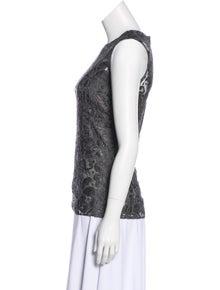 46292fb56260a7 Dolce   Gabbana. Lace Sleeveless Top