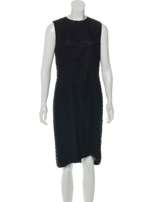 Dolce & Gabbana Knit Midi Dress Black