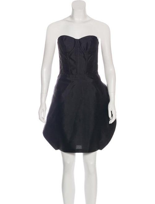 Dolce & Gabbana Silk Bustier Dress Black