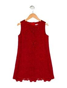 54a5aec7a9cc Dolce & Gabbana. Girls' Jacquard Eyelet Dress