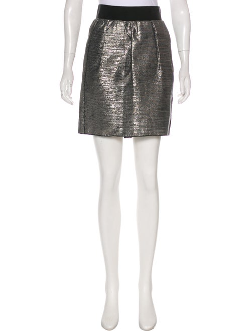Dolce & Gabbana Metallic Knee-Length Skirt Metalli