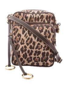 f6f47e4156ec Dolce & Gabbana. Animal Print Canvas Crossbody Bag