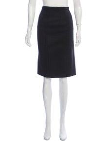 dd88aff456aeb9 Dolce & Gabbana. Virgin Wool Knee-Length Skirt
