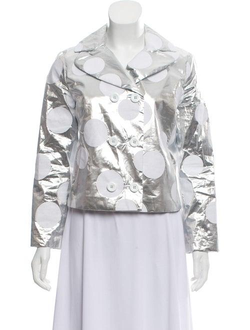 Dolce & Gabbana Silver Polka Dot Jacket Silver