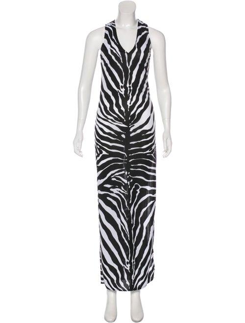 Dolce & Gabbana Printed Maxi Dress Black