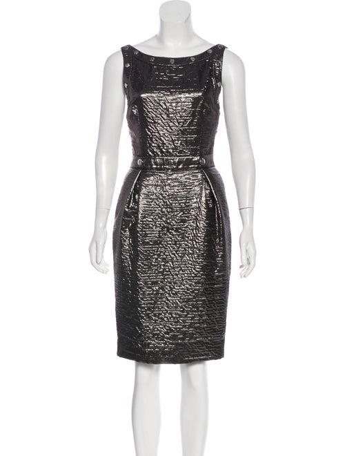 Dolce & Gabbana Metallic Studded Dress metallic